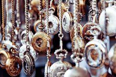Pocket Watches in Camden Market,London.