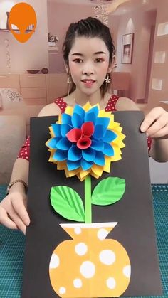 Mothers Day Crafts For Kids Discover Creative handmade origami Paper Flowers Craft, Paper Crafts Origami, Newspaper Crafts, Paper Crafts For Kids, Flower Crafts, Diy Flowers, Flower Diy, Diy Crafts Hacks, Diy Crafts For Gifts