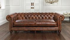 We have a very select range of Chesterfield sofas chosen by Mark Holdsworth, furniture designer. All of our Chesterfield sofas are available in bespoke colours and sizes. Chesterfield Sofas, Leather Chesterfield, Sofa Couch, Tufted Sofa, Cushions On Sofa, Couches, Leather Sofas, Chesterfield Living Room, Settee