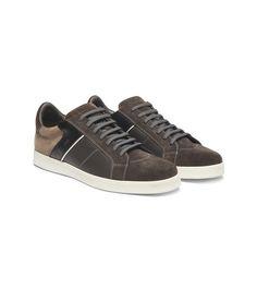 ERMENEGILDO ZEGNA:SneakersLaces Sueded Rubber sole Dark brown44854580EN