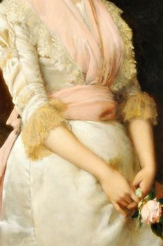 """"""" An English Rose, Detail. by William Oliver.(1804-1853) """""""