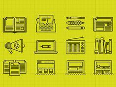 Communication Icons by Thais Navarro