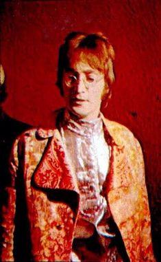 """Beatle John Lennon wearing a jacket from the Beatles """"Apple Boutique"""" circa 1968 The Beatles 1960, John Lennon Beatles, Apple Shop, John Lennon Paul Mccartney, Swinging London, Carnaby Street, The Fab Four, Ringo Starr, Purple Haze"""