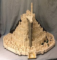 Final build of epic microscale Minas Tirith for Brickcon 2014   Flickr - Photo Sharing!