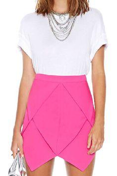 ROMWE | ROMWE Layered Asymmetric High-waisted Rose Skirt, The Latest Street Fashion