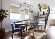 Centered by Design - Lincoln Park Modern Greystone, Dining Room, Custom Live Edge Walnut Table. Rooms Ideas, Walnut Table, Under The Table, Trendy Home, First Home, Home Decor Bedroom, Interiores Design, Contemporary Furniture, Diys