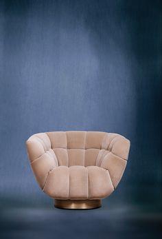 ESSEX Armchair by @BRABBU | Modern Chairs. Chair Design. Velvet Chair. #modernchairs #accentchair #velvetchair Discover more: https://www.brabbu.com/en/upholstery/essex-armchair/
