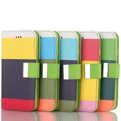 $19.99 - iPhone 6 / 6 Plus Flip Case - Multipurpose Contrast Colors Striped Leather Standable With Tab - Nplustwo.com #iPhone6 #iPhone6Plus #Cases #iPhonecases #iPhone6cases #iPhone6Pluscases #flipcases #bumpercases #Hardshellcases #Softshellcases #iPhone6Accessories #iPhone6PlusAccessories #iPhone6covers #iPhone6Pluscovers #iPhone6screenprotectors #iPhone6plusscreenprotectors #iPhone6case #iPhone6Pluscase #Bendgate #Hairgate