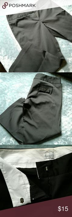 BNWOT Black Charlotte Russe crop pant BNWOT womens Charlotte Russe black satin cropped trouser with bow details on both back pockets size 5. Front Hook and zip closure. Thanks for looking!! Charlotte Russe Pants Ankle & Cropped