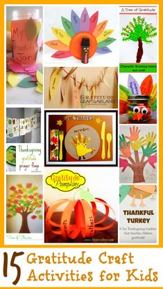 This post has a round up of 15 gratitude crafts for kids to learn about giving thanks, plus a mega cash giveaway at the end of the post! (Cool Art For Kids) Thanksgiving Art, Thanksgiving Preschool, Thanksgiving Crafts For Kids, Fall Crafts, Halloween Crafts, Holiday Crafts, Thanksgiving Decorations, Kid Crafts, Autumn Activities For Kids
