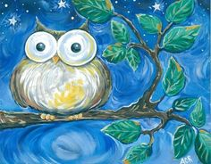 owl... love the color mixing! hmm.. wonder if I could do this for my niece for Christmas??