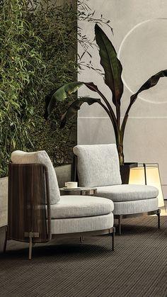 Luxury Furniture, Modern Furniture, Furniture Design, Outdoor Furniture, Interior Architecture, Interior Design, Resort Villa, Health Center, Sit Back And Relax