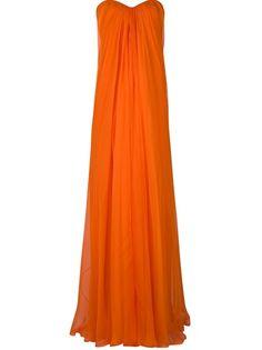 ALEXANDER MCQUEEN Long Bustier Dress- love this orange !