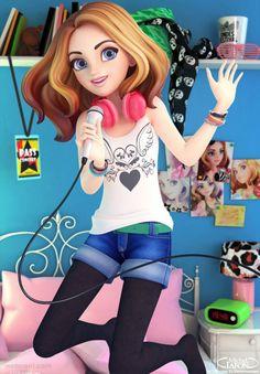 30 Beautiful 3D Girls Character designs and Models. Read full article: http://webneel.com/3d-girl | Follow us www.pinterest.com/webneel