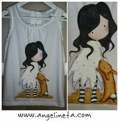 Camiseta pintada gorjuss