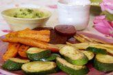 Verduras a la plancha con ali-oli de aguacates