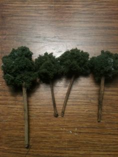 Fairy Garden Accessories- Set of Four Mini Trees