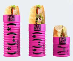 Sandwitch packaging.  Gallery of the best packaging of Russia 2013.