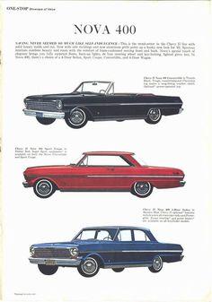 1963 Chevy II Nova 400s, Convertible, Sport Coupe, Four Door Sedan