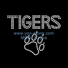 Wholesale Paw Tigers Rhinestone Iron On Transfer