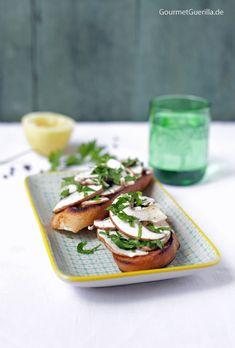 Sommerliches Champignon-Bruschetta #rezept #vorspeise #sommer #gourmetguerilla #menü