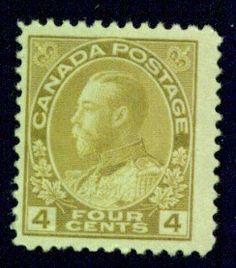 CANADA   Scott # 110 F-VF Mint Hinged