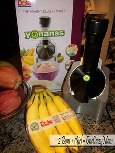 #Yonanas makes amazing treats and no points on Weight Watchers. I bought one for Christmas and I love it!