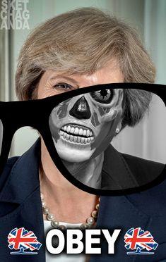 Theresa lives by Sketchaganda Theresa May