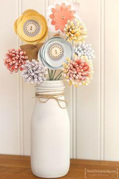 Burlap & Blooms Flower Arrangement - Looks adorable as an arrangement.