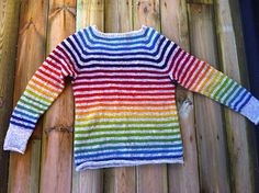 rainbow sweater for a dear friend (size 10 years)