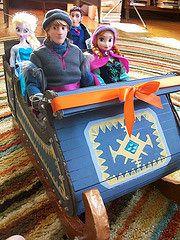 Kristoff's Sleigh (paynedabear) Tags: anna frozen store doll dolls handmade ooak barbie hans disney size custom sled sleigh elsa jcp kristoff jcpenney 2013 vision:people=099 vision:face=099 vision:groupshot=099 vision:car=0528
