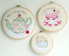 Teapot teacups cake trio of freestyle by rachelandgeorge on Etsy, £40.00