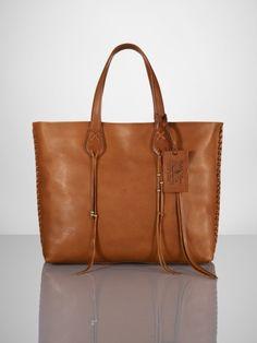 Vachetta Braided Zip Tote - Ralph Lauren Ralph Lauren Handbags - RalphLauren.com  Ralph Lauren 662459b7c0fb5