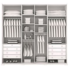 Discover recipes, home ideas, style inspiration and other ideas to try. Wardrobe Design Bedroom, Bedroom Wardrobe, Wardrobe Closet, Built In Wardrobe, Closet Interior, Bedroom Closet Storage, Built In Cupboards, Bedroom Cupboards, Wardrobe Organisation