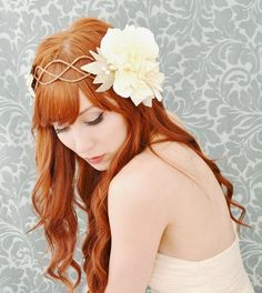 Celeste  art nouveau floral crown by gardensofwhimsy on Etsy, $74.00