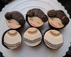 Looking for cake decorating project inspiration? Check out Star Wars Princess Leia Cupcakes by member Eulariza.