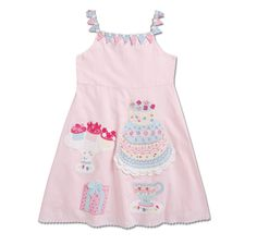 Adorable embroidery and appliqué on this little girls' dress from CWD kids.  Too bad it's so ridiculously expensive.