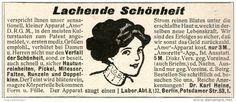 Original-Werbung/ Anzeige 1911 -  SCHÖNHEIT - AMO - APPARAT / LABOR DR.HEINE - BERLIN  - ca. 90 x 40 mm
