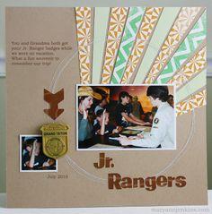 i rock paper and scissors: {Jr. Scrapbooking Layouts, Scrapbook Cards, Photo Layouts, My Rock, Layout Inspiration, Scrapbooks, Ranger, Sketches, Crafty