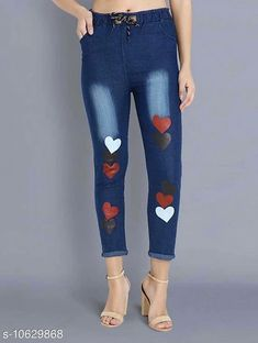 Checkout this latest Jeans Product Name: *Martin Classy Joggers Fit Women Denim  Dark Blue Jeans For Girls* Fabric: Denim Surface Styling: Printed Multipack: 1 Sizes: 28, 30 Country of Origin: India Easy Returns Available In Case Of Any Issue   Catalog Rating: ★3.9 (1697)  Catalog Name: Fancy Designer Women Jeans CatalogID_1948574 C79-SC1032 Code: 962-10629868-666