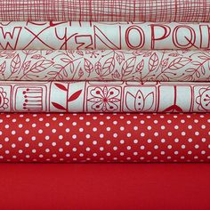 Scandinavian fabric bundle...love these reds!