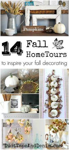 14 fall home tours to inspire your fall decorating | http://DuctTapeAndDenim.com