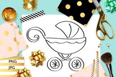 Baby Pram Coloring (Graphic) by Revidevi · Creative Fabrica Coloring Books, Coloring Pages, Baby Prams, Digital Stamps, Gift Cards, Making Ideas, Craft Projects, How To Draw Hands, Card Making
