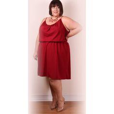Jessica Kane Grecian Sleeveless Dress Marsala (Sizes 14 32) ❤ liked on Polyvore featuring dresses, sleeveless dress, red dress, no sleeve dress, kane and grecian drape dress