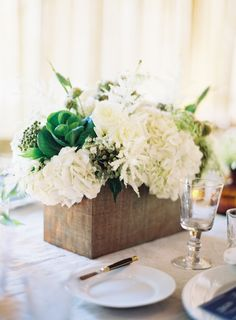 Rustic Centerpiece at a Rustic Elegant Wedding: On Style Me Pretty: http://www.StyleMePretty.com/2014/01/15/rustic-elegance-at-dos-pueblos-ranch/ Photography: Jose Villa Photography
