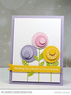 Paper Therapy: My Favorite Things – April Birthday Project Challenge! Karten Diy, Stamping Up Cards, Handmade Birthday Cards, Birthday Card Making, Flower Cards, Flower Birthday Cards, Birthday Tags, Sister Birthday, Diy Birthday
