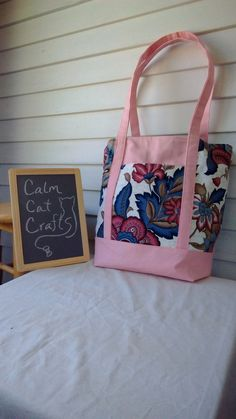 A personal favorite from my Etsy shop https://www.etsy.com/listing/457153084/large-tote-bag-floral-tote-pinktote-gift