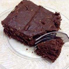 "Gluten-Free, Dairy-Free Coconut Brownies | ""This is a great tasting gluten free, dairy free recipe. The brownies come out cake-like and light."""