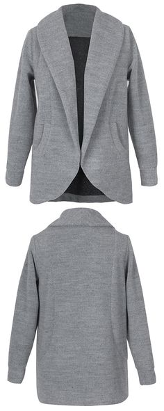 Warm up with this open front style with free shipping&easy return! This lapel coat is detailed with side pockets&raglan sleeve. So chic&cozy at Cupshe.com