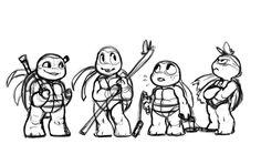 Chibi 2012 TMNT by noodle-doodle on deviantART
